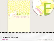 Easter greeting - Easter egg hunt bunny