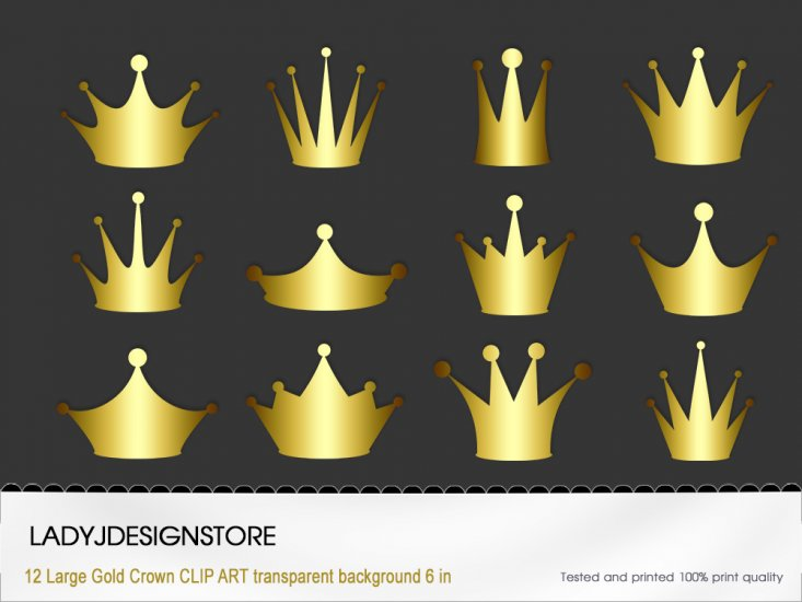 Gold Crown Clip Art - Click Image to Close