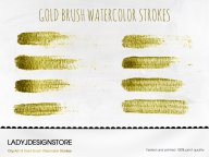 Gold Brush Watercolor Strokes