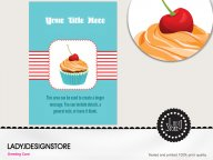 Surprise candy cupcake birthday invitation card