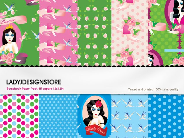 Digital papers - Pretty Doll
