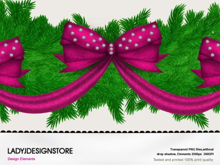Christmas pink garland - Click Image to Close