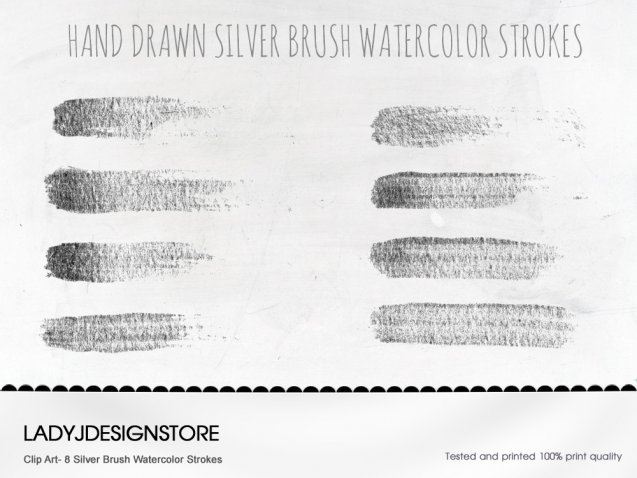 Silver Brush Watercolor strokes