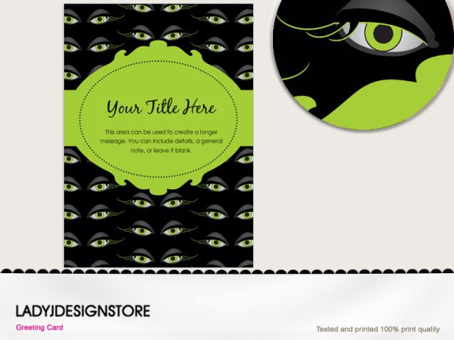Halloween zombie eyes invitation