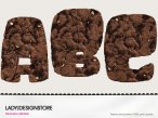 Digital decorative brownie alphabet