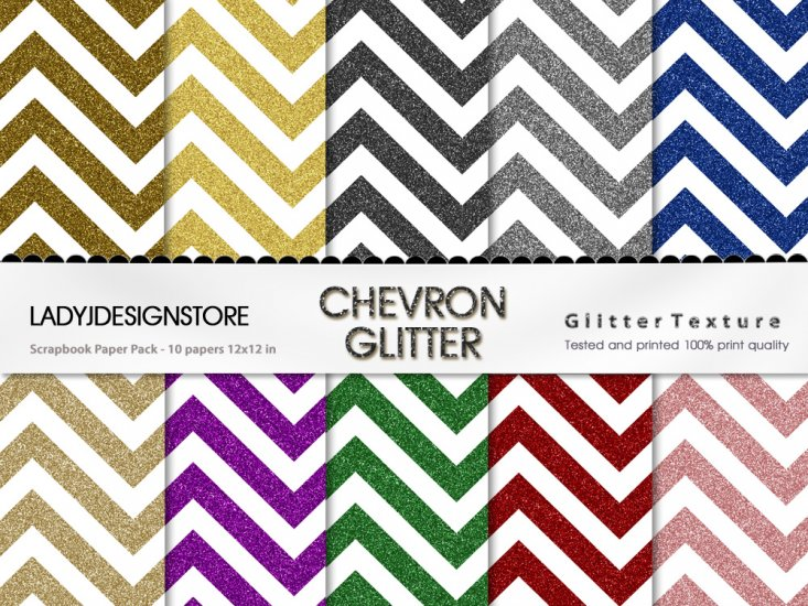 Chevron Glitter Bundle - Click Image to Close