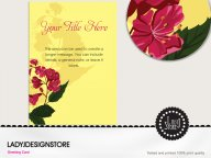 Birthday invitation - blooming flowers