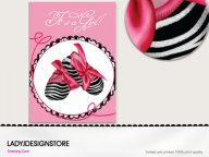 Baby shower - deep zebra pink shoes