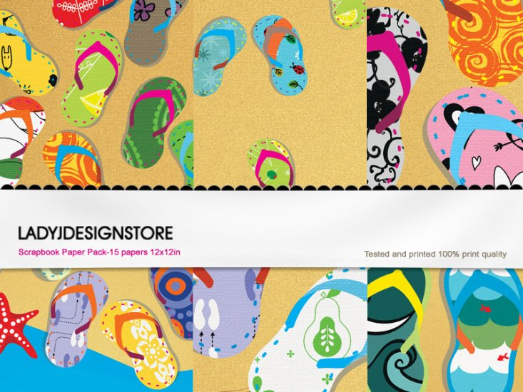 Digital papers - Flip Flop - Click Image to Close