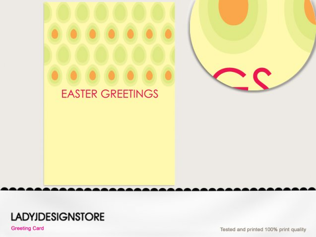 Easter greeting - Easter egg hunt