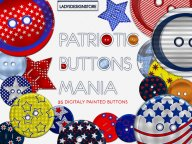Scrapbooking elements button mania