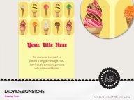 Double Ice cream cone party invitation card