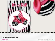 Baby shower - zebra shoes