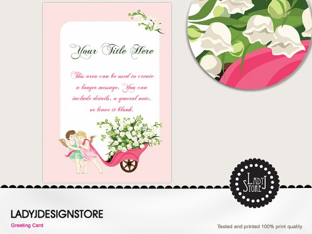Angel Save the Date Lily of the Wally Flowers
