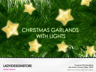 Design elements - Christmas garlands with light bulbs