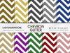 Large Stripes Chevron Glitter Digital Papers