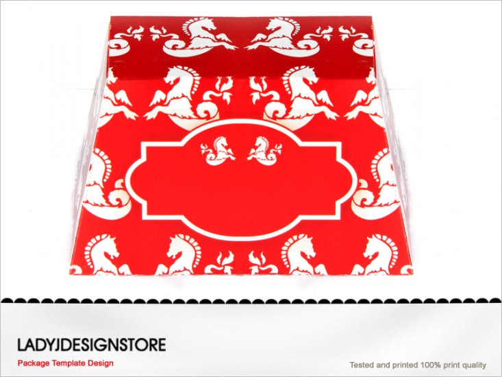 Sea Horse Gift Box Template - Click Image to Close