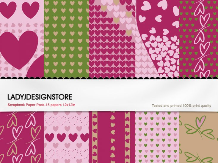 Digital papers - Valentine Heart - Click Image to Close