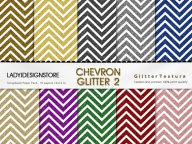 Small Stripes Chevron Glitter Digital Papers