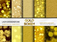 Gold Digital Bokeh Paper