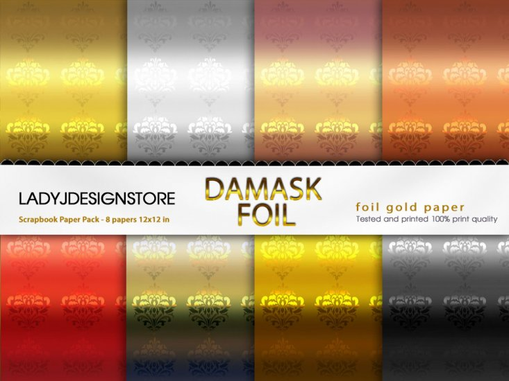 Damask Foil - Click Image to Close