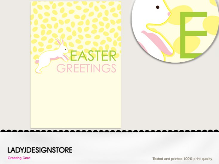 Easter greeting - Easter egg hunt bunny - Click Image to Close