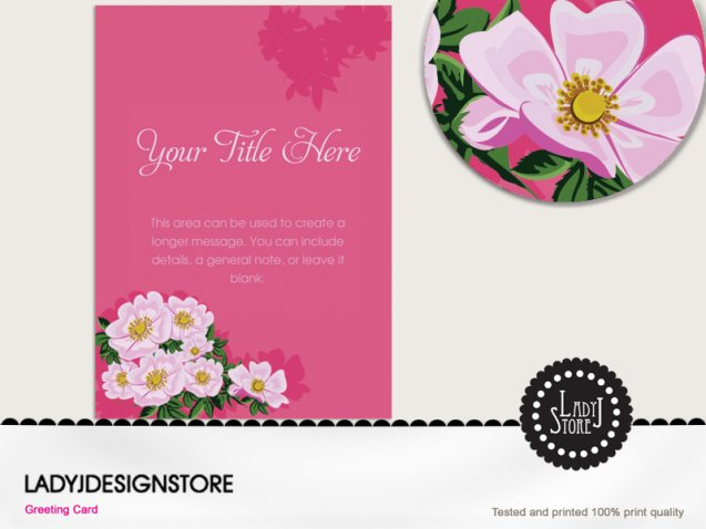 Birthday invitation - wild rose