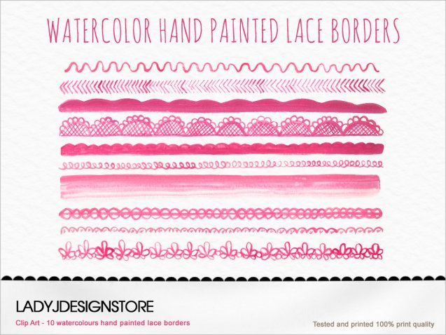Pink Lace Border No.1