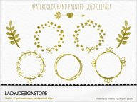 Watercolor Gold Clip Art