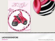 Baby shower - zebra pink shoes