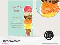Big ice cream cone party invitation card