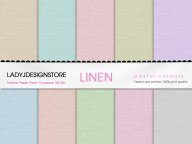 Digital papers - Pastel Linen