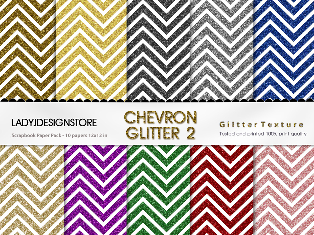 Chevron Glitter Bundle