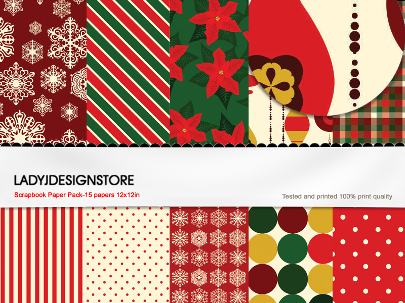 Digital papers - Christmas 1