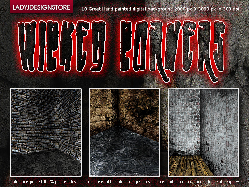 Wicked corners - hand painted digital background