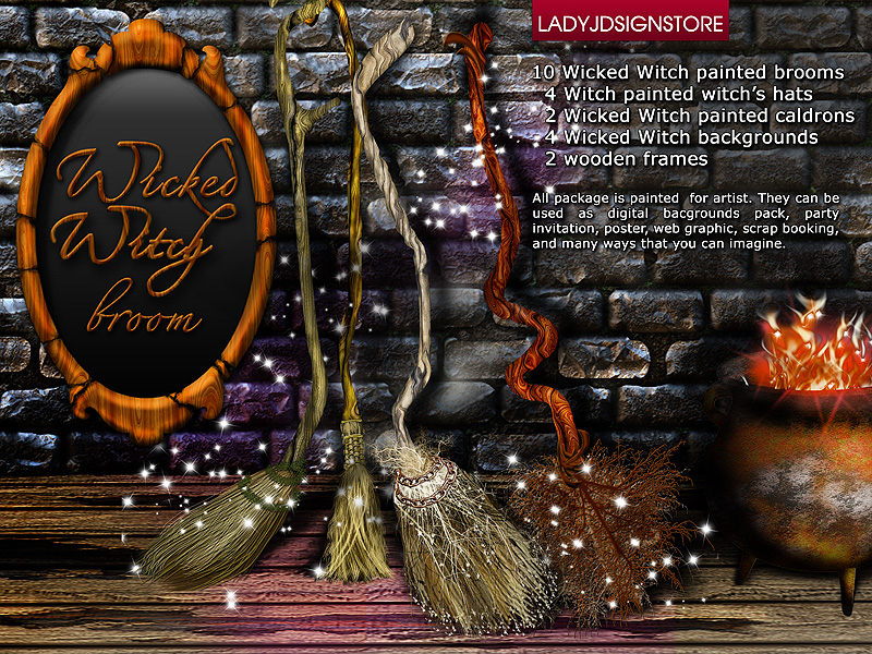 Wicked witch broom ultimate designed bundle